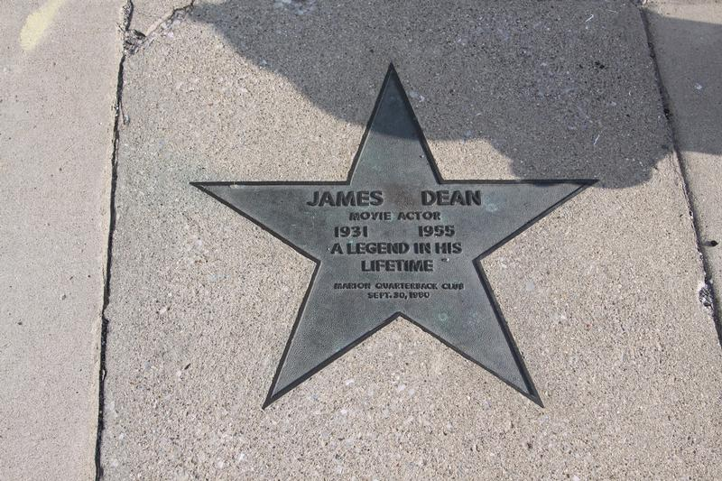 James Dean Birthplace site star plaque - History's Homes