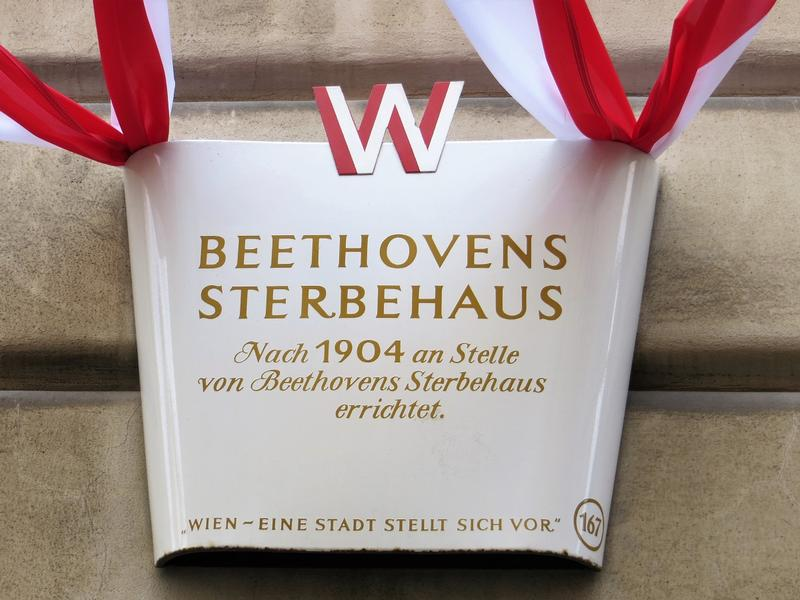Beethovens Sterbehaus sign - Vienna - History's Homes