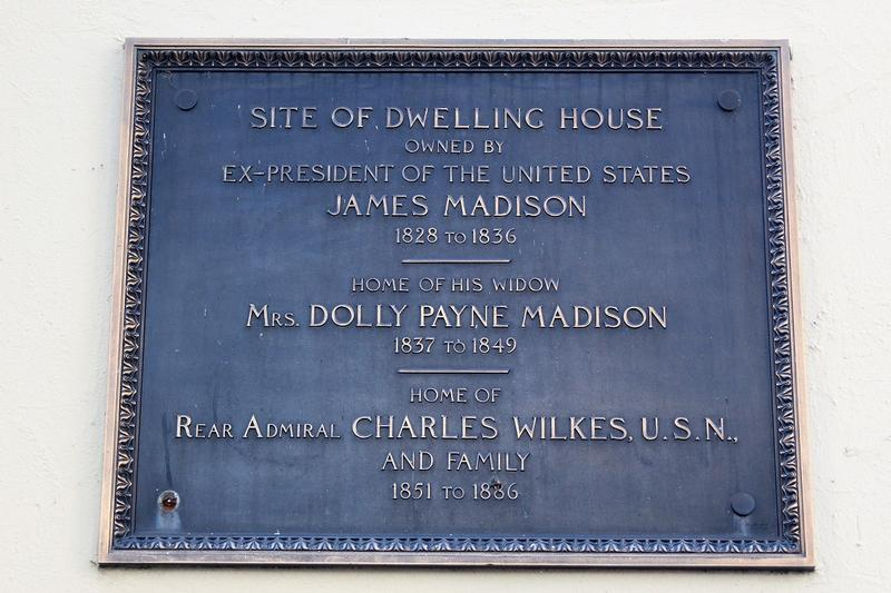 Dolley Madison House plaque - Washington, D.C. - History's Homes
