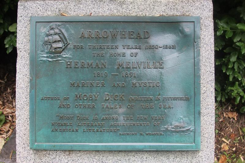 Herman Mellville Arrowhead plaque - History's Homes