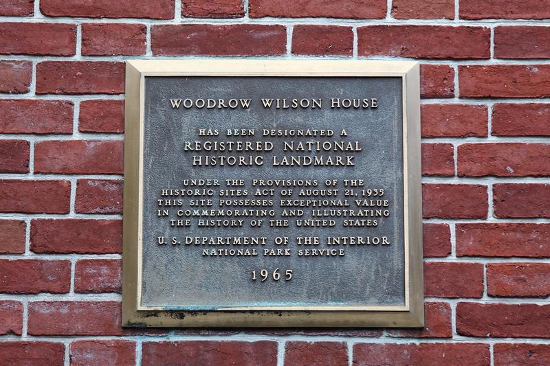 Woodrow Wilson House plaque - Washington, D.C. - History's Homes