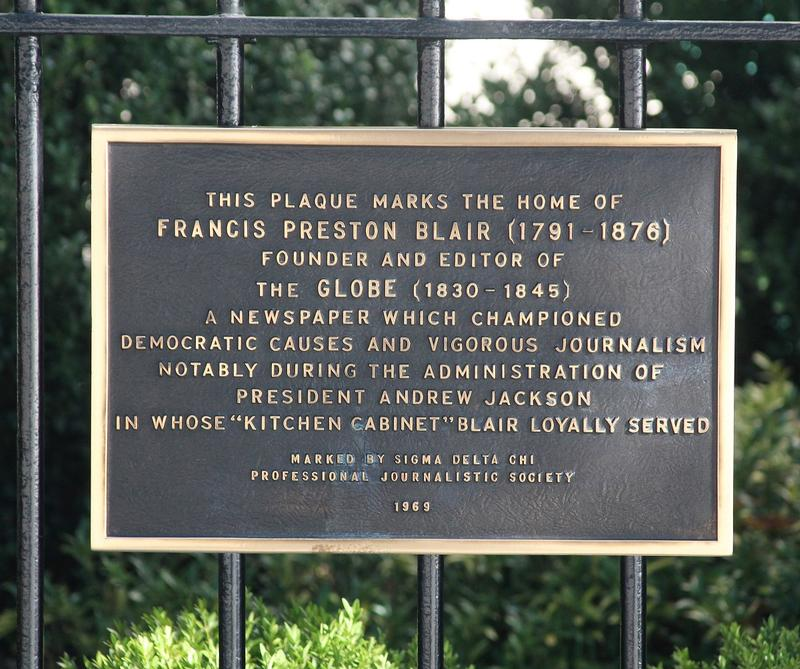 Blair House plaque #1 - Washington, D.C. - History's Homes