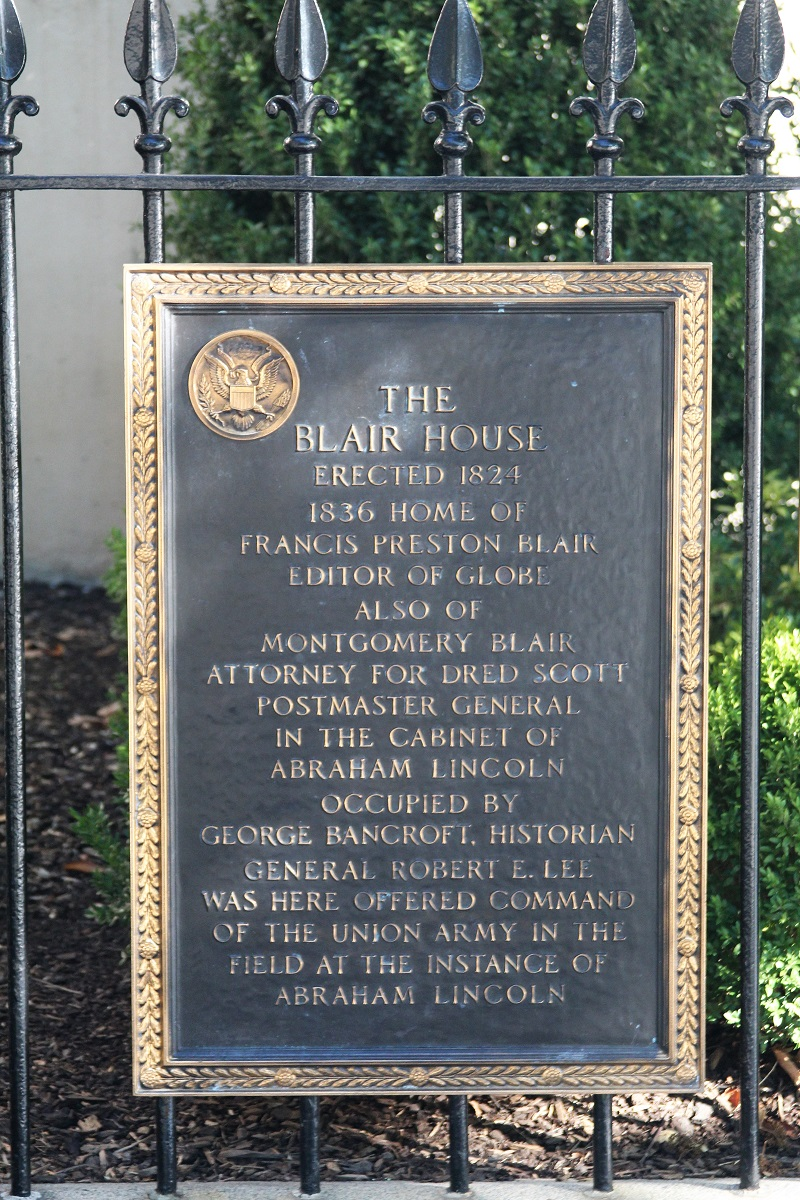 Blair House plaque #2 - Washington, D.C. - History's Homes