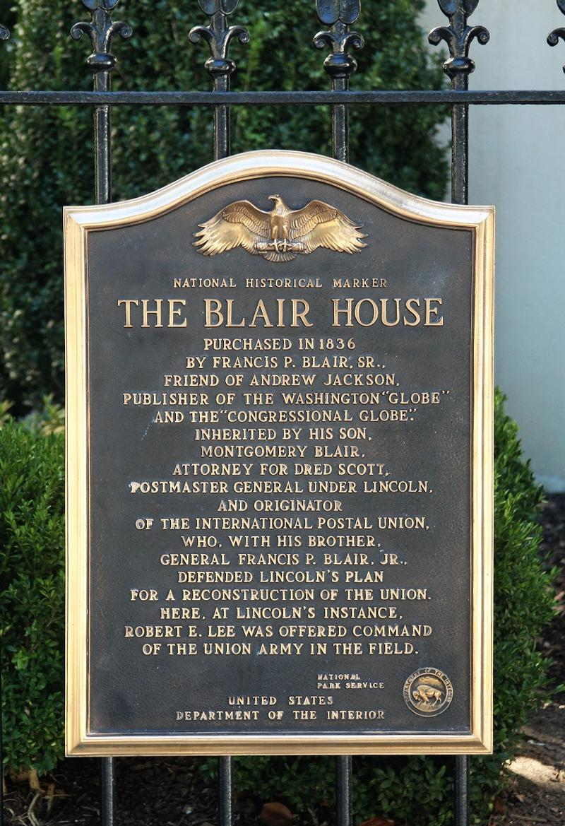 Blair House plaque #3 - Washington, D.C. - History's Homes