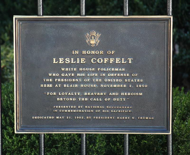 Leslie Coffelt plaque - Washington, D.C. - History's Homes