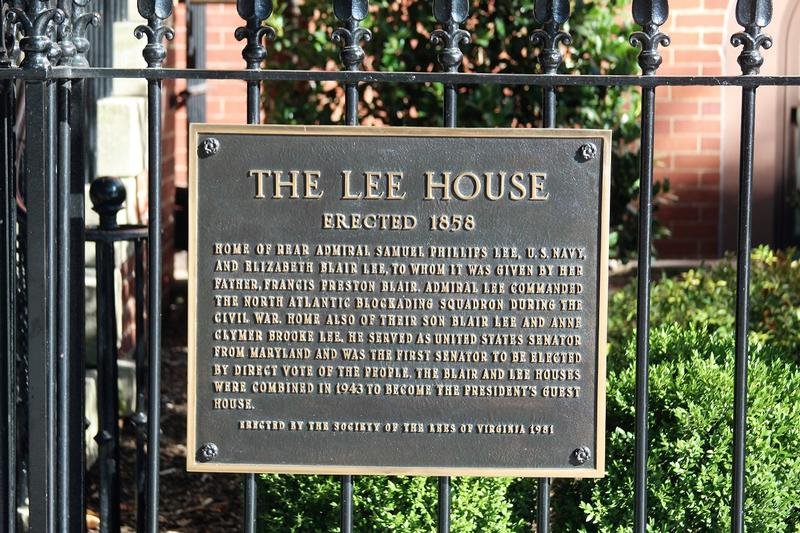 Lee House plaque - Washington, D.C. - History's Homes