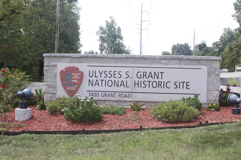 Ulysses S. Grant Historic Site sign - St. Louis - History's Homes