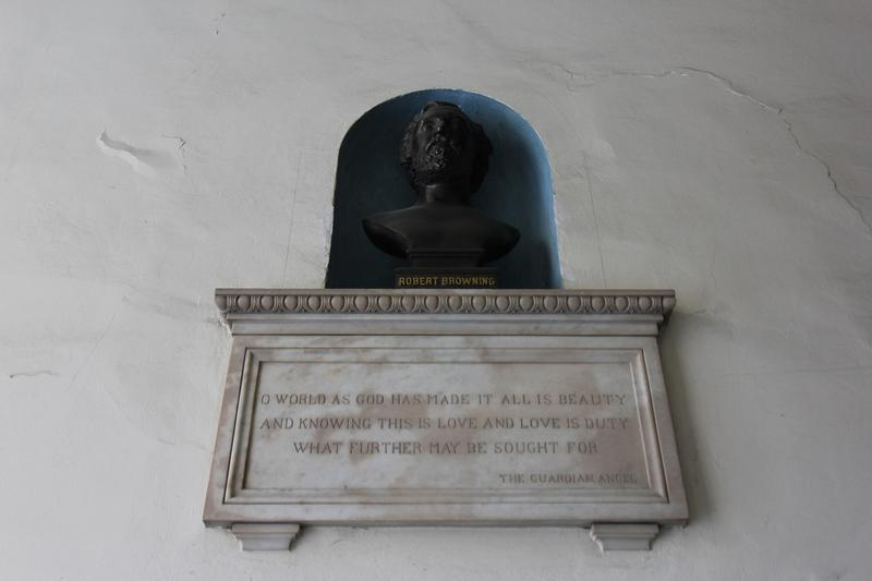 Robert Browning Home bust - Florence - History's Homes