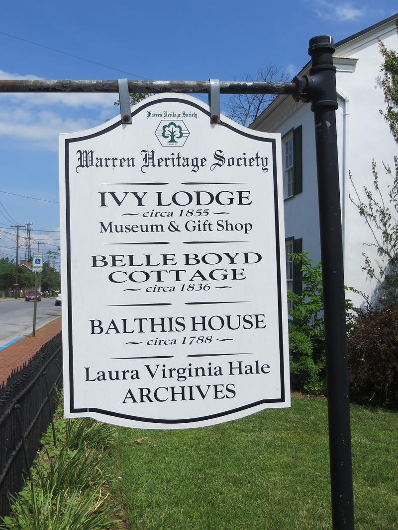 Belle Boyd Cottage sign - Front Royal - History's Homes