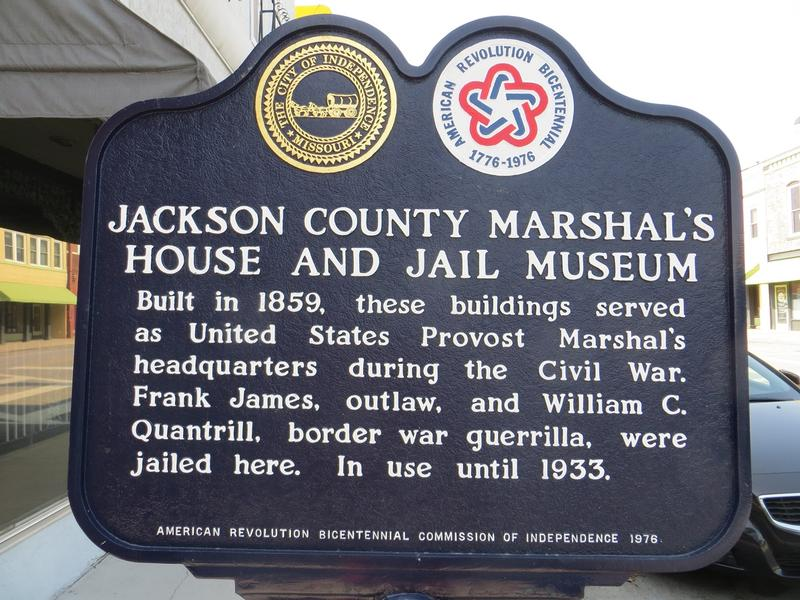 Jackson County Jail marker - Independence - History's Homes