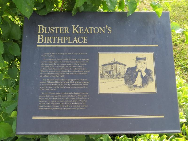 Buster Keaton Birthplace Site marker - History's Homes