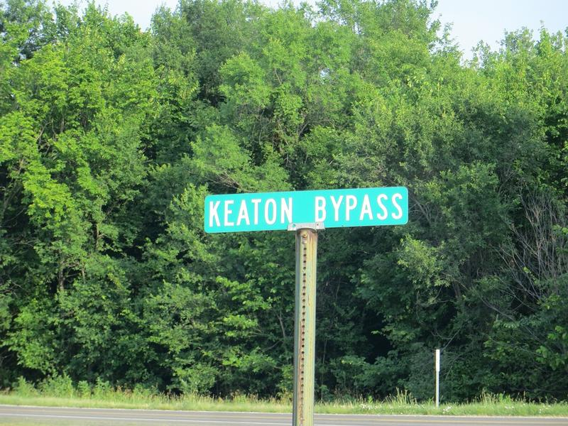Buster Keaton Birthplace Site street sign - History's Homes