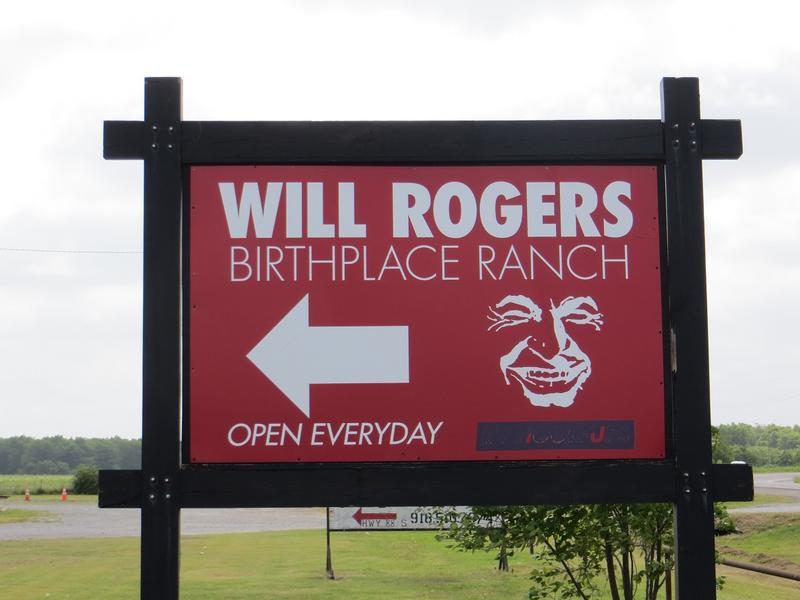 Will Rogers Birthplace Ranch sign - OK - History's Homes
