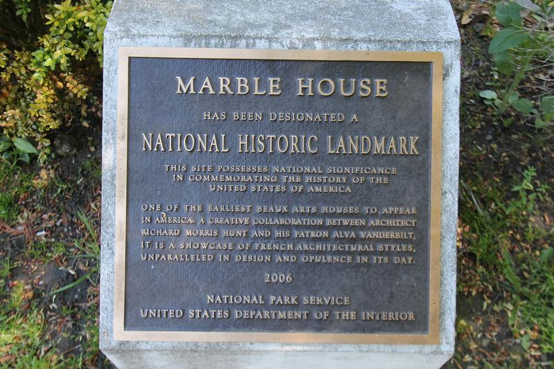 Marble House plaque - Newport - History's Homes