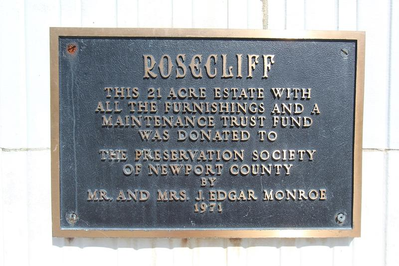 Rosecliff plaque - Newport - History's Homes