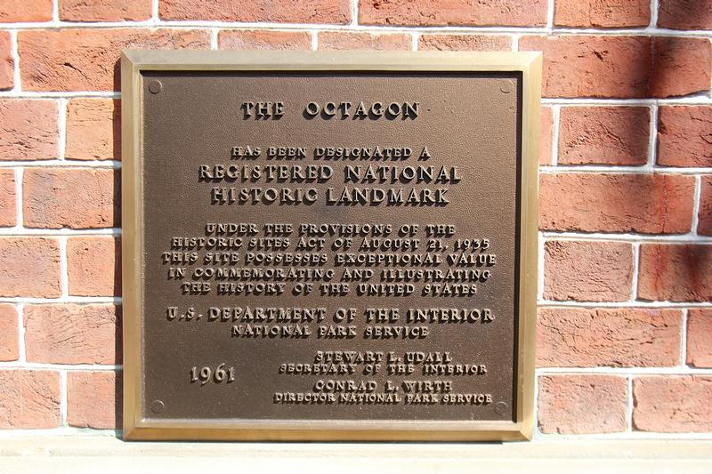 Octagon House plaque - Washington, D.C. - History's Homes