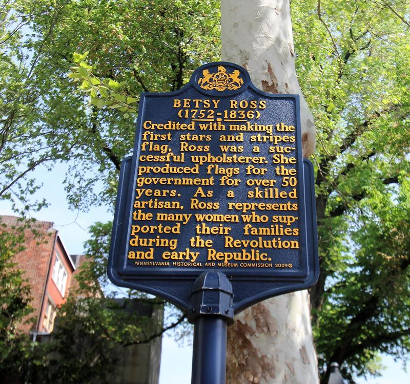 Betsy Ross House marker - Philadelphia - History's Homes