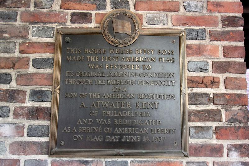 Betsy Ross House plaque - Philadelphia - History's Homes