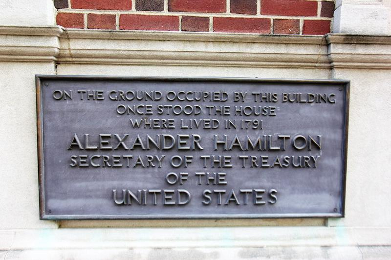 Alexander Hamilton Home Site plaque - Philadelphia - History's Homes