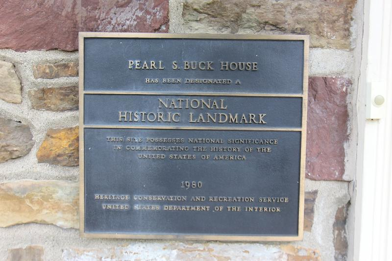 Pearl S. Buck Home plaque - PA - History's Homes
